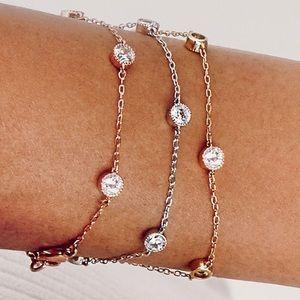 Petits Bijoux rose gold station bracelet